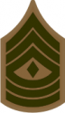 E-8 1SGT First Sergeant (Khaki) Decal