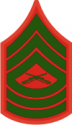 E-8 MSGT Master Sergeant (Green)  Decal
