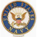 Navy Crest Magnet