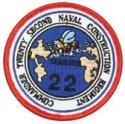 Commander 22nd Naval Construction Regiment Patch