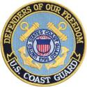 Defenders Of Our Freedom US Coast Guard Patch
