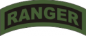 Ranger Tab Decal  (OD on Black)