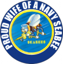 Proud Wife of a Seabee Decal