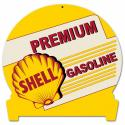 12 X 15 SATIN METAL SIGN - PREMIUM SHELL GASOLINE