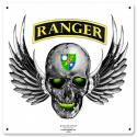 Army Ranger Skull by Red Anchor Art  - Metal Sign