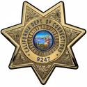 California Department of Corrections Officers Badge all Metal Sign with your Bad