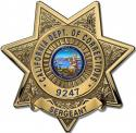 California Department of Correction Clock (Sergeant) with your Badge Number Adde