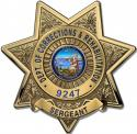 California Department of Corrections and Rehabilitation (Sergeant)  Badge all Me