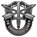 Special Forces De Oppresso Liber CREST Sign - Metal Sign Plasma Cut 7x7