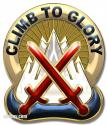 "10th Mountain Division Unit Crest (Climb to Glory)  12 x 15"" Metal Sign"