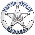 United States Marshal Cut Out Police Badge all Metal Sign