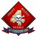 4TH RECONNAISSANCE BATTALION Metal Sign-  All Metal Sign 16 x 15""