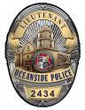 Oceanside Police (Lieutenant) Department Badge all Metal Sign with your badge nu
