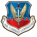 """Air Force Air Combat Command All Metal Sign 16 x 16"""""""