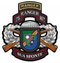 75th Ranger Rgt. Combo  Metal Sign-  All Metal Sign 16 x 17""