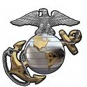 """US Marine CORPS EGA (GOLD and Silver) All Metal Sign 16"""" x 16"""""""