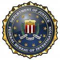 "Federal Bureau of Investigation FBI  All Metal Sign 15"" Round"