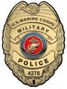 "US Marine CORPS Military Police  All Metal Sign 12 x 16""  Personalized"