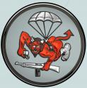 "508th Airborne Parachute Infantry (Devil) Metal Sign  14"" Round"