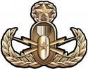 "Navy Master Explosive Ordnance Disposal (EOD) Metal Sign 17 x 13"""