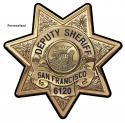 San Francisco Sheriff's Department Badge all Metal Sign with your Badge Number a