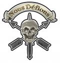 Nous Defions Mortu Discriminatu Skull All Metal Sign   15 x 15""