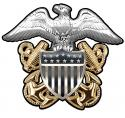"Navy Officer's Cap Badge All Metal Sign  16 x 14"""