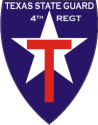 Texas State Guard 4th Regiment Decal