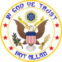 USA - Not Allah Decal
