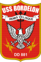 DD-881 USS Bordelon  Decal