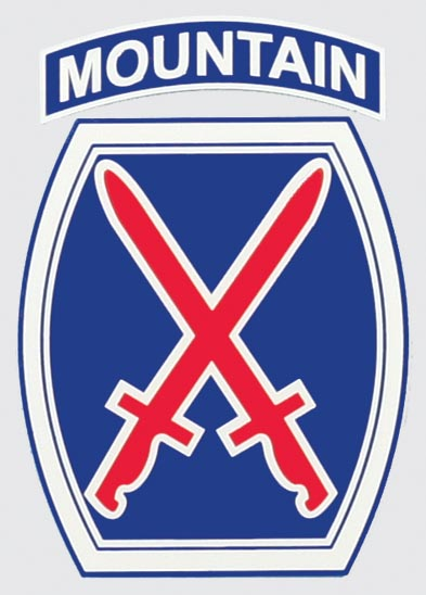10th Mountain Division Shield Logo Decal   North Bay Listings