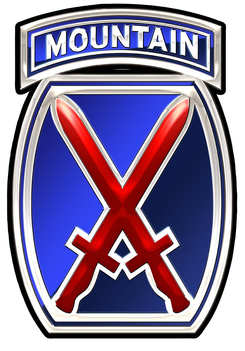 10th Mountain Division (Airborne) Metal Sign 11 x 16 ...